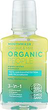 Düfte, Parfümerie und Kosmetik 3in1 Mundspülung mit Bio Kokosnussöl und Minzeextrakt - Organic People Coconut And Mint