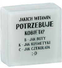 Düfte, Parfümerie und Kosmetik Handgemachte Glycerinseife mit Ananasduft - LaQ Short Message Soap: Welche Vitamine braucht eine Frau? -B,K,C Natural Soap