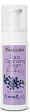 Düfte, Parfümerie und Kosmetik Beruhigender und feuchtigkeitsspendender Gesichtsreinigungsschaum mit Blaubeerextrakt - Nacomi Face Cleansing Foam Blueberry