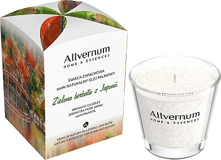Duftkerze im Glas Green Tea from Japan - Allvernum Home & Essences Candle — Bild N1