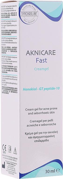 Creme-Gel für zur Akne neigende und seborrhöische Haut - Synchroline Aknicare Fast Cream Gel — Bild N2