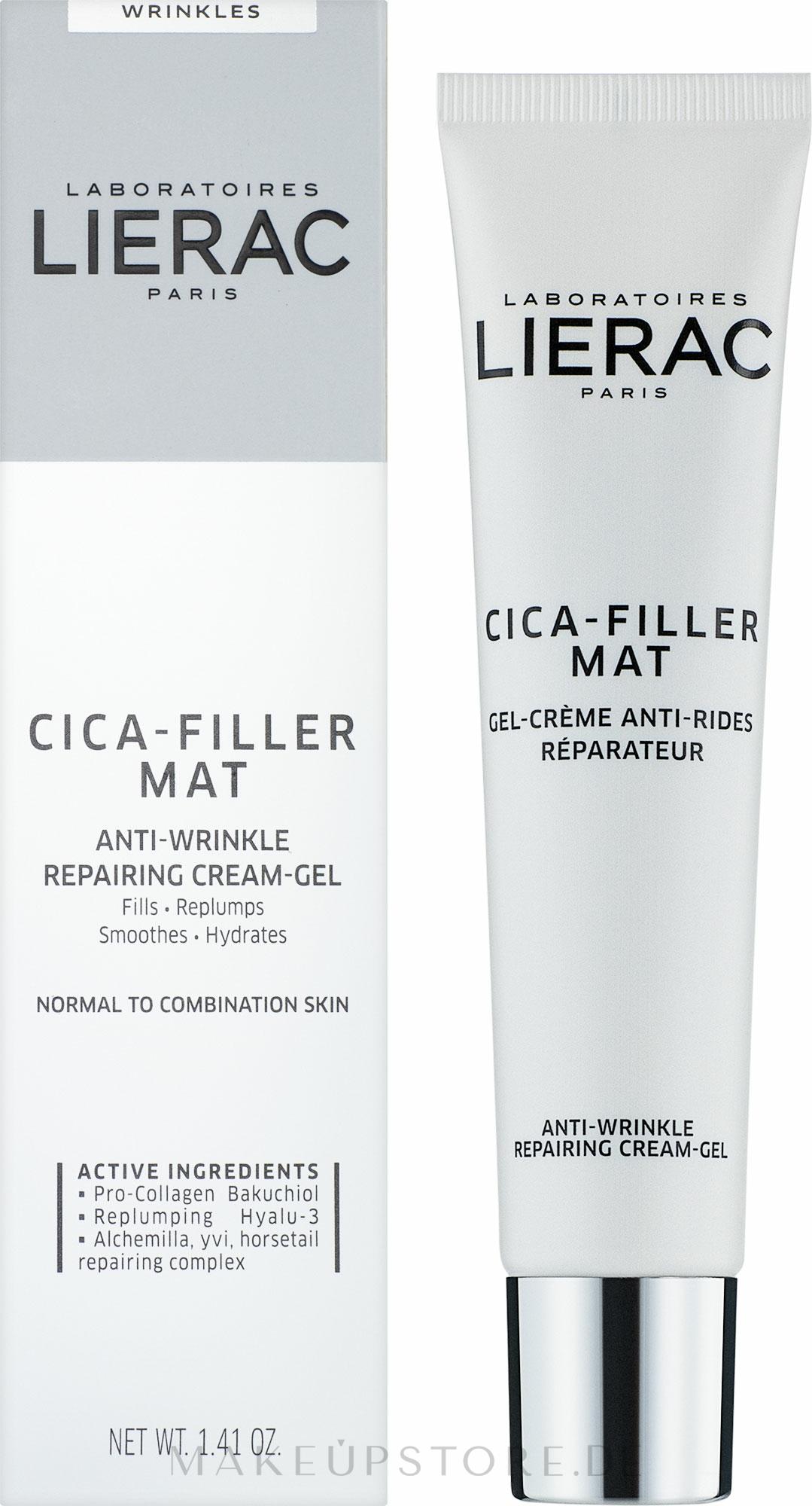 Anti-Falten Gesichtscreme - Lierac Cica-Filler Anti-Wrinkle Repairing Cream — Bild 40 ml