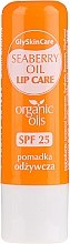Düfte, Parfümerie und Kosmetik Pflegender Lippenbalsam mit Bio Sanddornöl SPF 25 - GlySkinCare Organic Seaberry Oil Lip Care