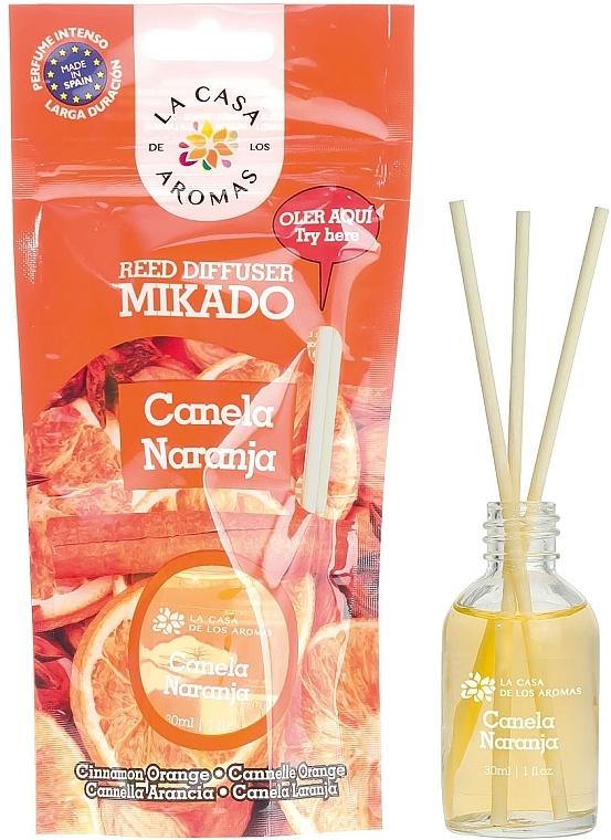 Raumerfrischer Zimt und Orange - La Casa de Los Aromas Mikado Reed Diffuser — Bild N1
