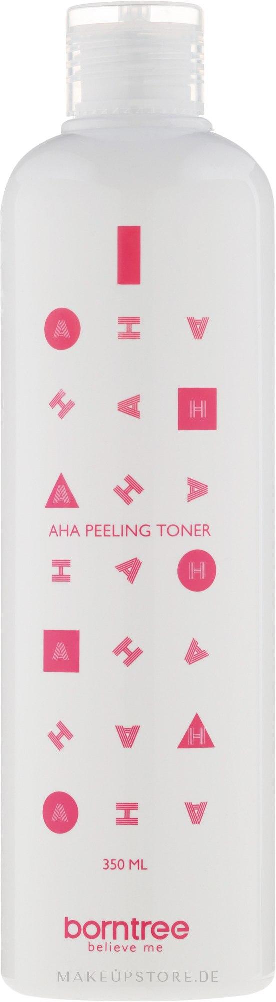 Feuchtigkeitsspendendes Gesichtstonikum mit AHA-Säuren - Borntree AHA Feeling Toner — Bild 350 ml