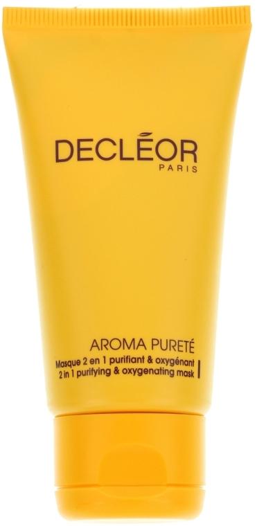 2in1 Verfeinernde Gesichtsmaske mit Ylang-Ylang-Öl und Extrakt aus weißer Seerose - Decleor Aroma Purete Masque 2 en 1 Purifiant & Oxygenant — Bild N1