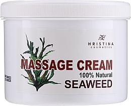 Düfte, Parfümerie und Kosmetik Glättende regenerierende und antioxidative Massagecreme für Körper und Gesicht mit Algenextrakt - Hristina Cosmetics Seaweed Massage Cream