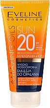 Düfte, Parfümerie und Kosmetik Wasserfeste Sonnenschutzemulsion für den Körper SPF 20 - Eveline Cosmetics Amazing Oils