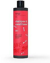 Düfte, Parfümerie und Kosmetik 2in1 Shampoo & Conditioner mit Bio Zitronengrasextrakt - Kili·g Man 2-in-1 Shampoo