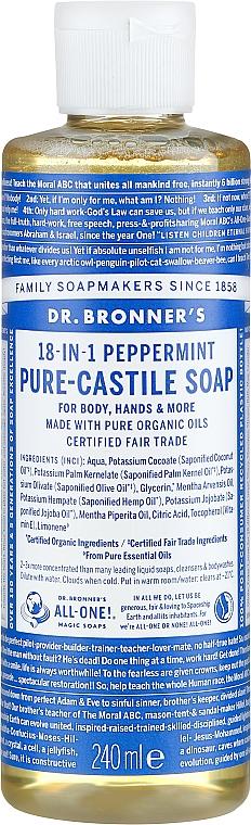 18in1 Flüssigseife mit Pfefferminze für Körper und Hände - Dr. Bronner's 18-in-1 Pure Castile Soap Peppermint — Bild N3