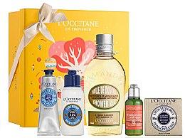 Düfte, Parfümerie und Kosmetik Körperpflegeset - L'Occitane Best Seller (Handcreme 30ml + Körperlotion 75ml + Duschöl 250ml + Shampoo 35ml + Handseife 100g)