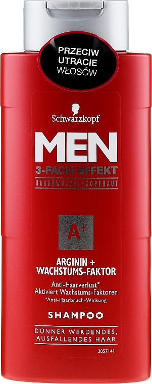 3-Fach-Effekt Shampoo zur Stimulierung des Haarwachstums - Schwarzkopf Men A+ Arginin+ Shampoo