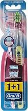 Düfte, Parfümerie und Kosmetik Zahnbürste extra weich Precision Gum Care rosa, grün 2 St. - Oral-B Ultrathin Precision Gum Care Extra Soft
