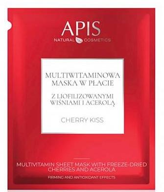 Gesichtsmaske mit Vitaminen - APIS Professional Cherry Kiss Multivitamin Sheet Mask — Bild N1