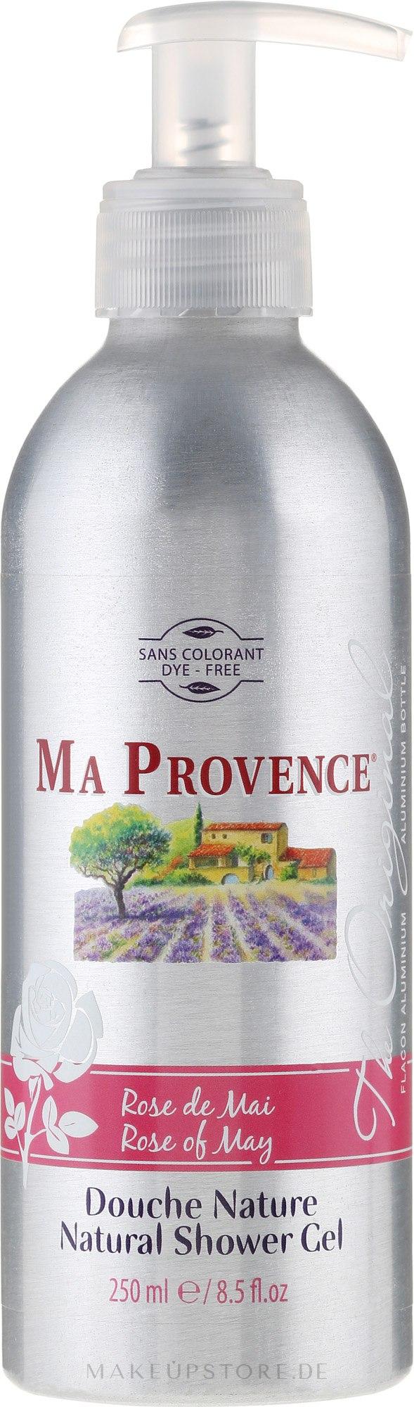 """Duschgel """"Mai Rose"""" ( Nachfüller) - Ma Provence Shower Gel Rose Of May — Bild 250 ml"""