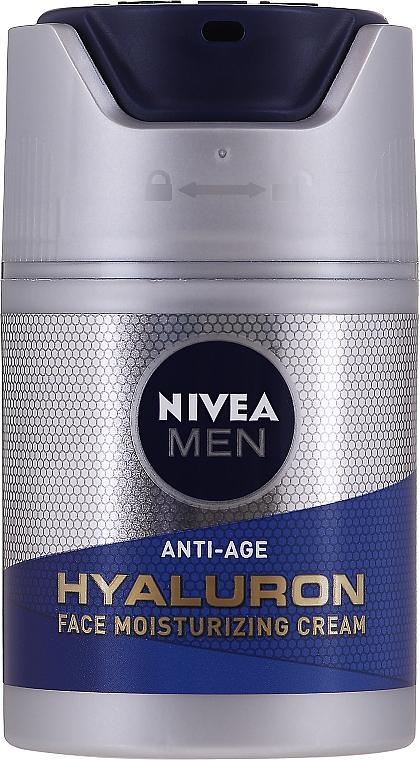 Feuchtigkeitsspendende Anti-Aging Gesichtscreme mit Hyaluronsäure für alle Hauttypen SPF 15 - Nivea Men Anti-Age Hyaluron Face Moisturizing Cream SPF 15 — Bild N1