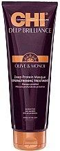 Düfte, Parfümerie und Kosmetik Stärkende Haarmaske mit Oliven- und Monoi-Öl und Proteinen - CHI Deep Brilliance Optimum Protein Masque