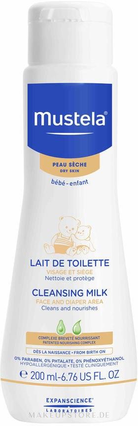 Pflegende Reinigungsmilch für Gesicht und Windelbereich für Kinder und Babys - Mustela Facial Cleansing Milk — Bild 200 ml