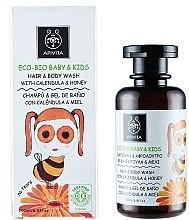 Düfte, Parfümerie und Kosmetik Haar- und Körpershampoo für Babys und Kinder mit Ringelblume und Honig - Apivita Babies & Kids Eco Bio Baby Kids Hair & Body Wash With Calendula & Honey