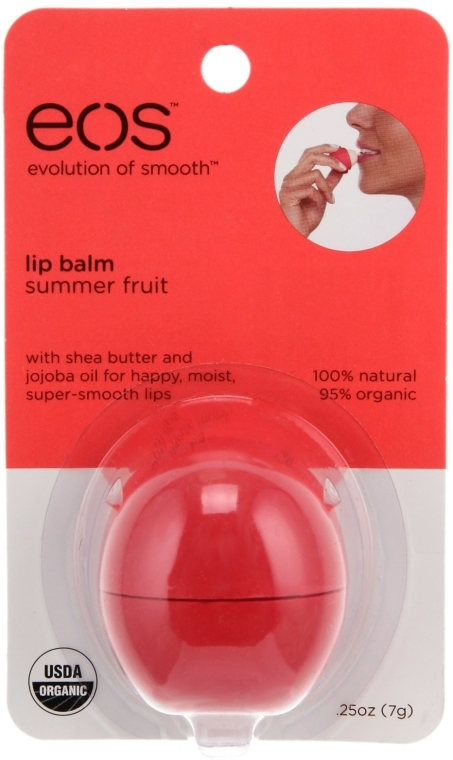 "Lippenbalsam ""Summer Fruits"" - EOS Smooth Sphere Lip Balm Summer Fruit — Bild N2"