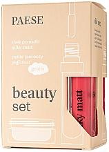 Düfte, Parfümerie und Kosmetik Make-up Set (Flüssiger Lippenstift 2x6ml + Augenpuder 5.3g) - Paese Beauty Set