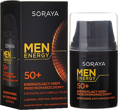 Pflegende und regenerierende Anti-Falten Gesichtscreme für Männer 50+ - Soraya Men Energy — Bild N2