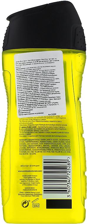 Duschgel für Männer - Adidas Pure Game Hair & Body Shower Gel — Bild N2