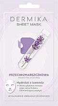 Düfte, Parfümerie und Kosmetik Anti-Falten Tuchmaske mit Lavendelhydrolat - Dermika Sheet Mask