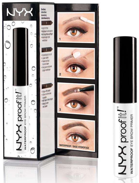 Wasserdichtes Augenbrauenbasis - NYX Professional Makeup Proof It! Waterproof Eyebrow Primer — Bild N2