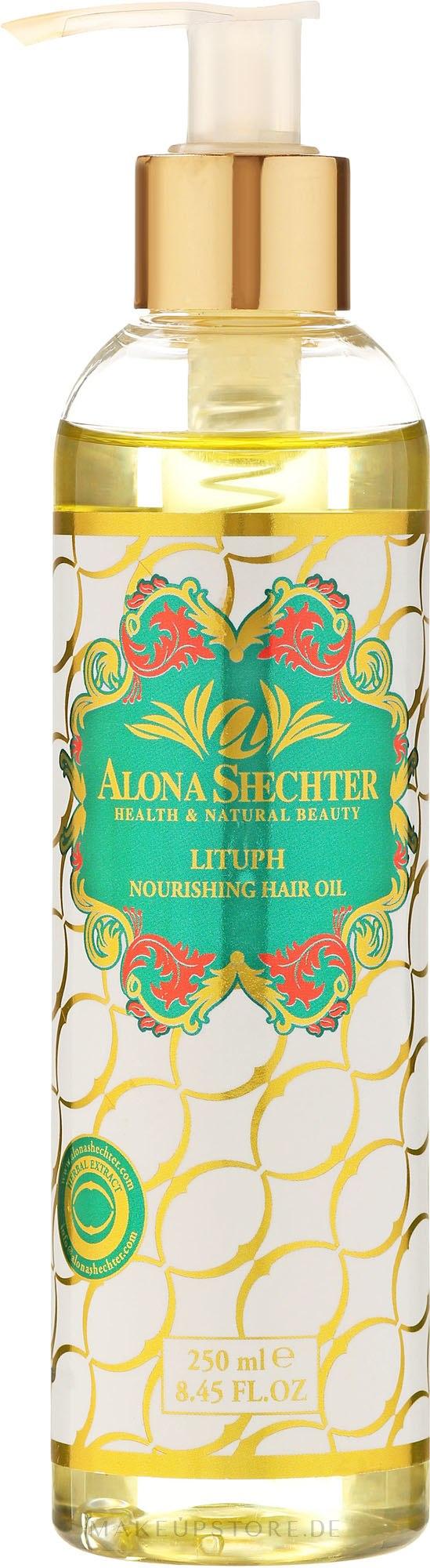 Nährendes und kräftigendes Haaröl für strapaziertes, dünner werdendes Haar - Alona Shechter Hair Oil — Bild 250 ml