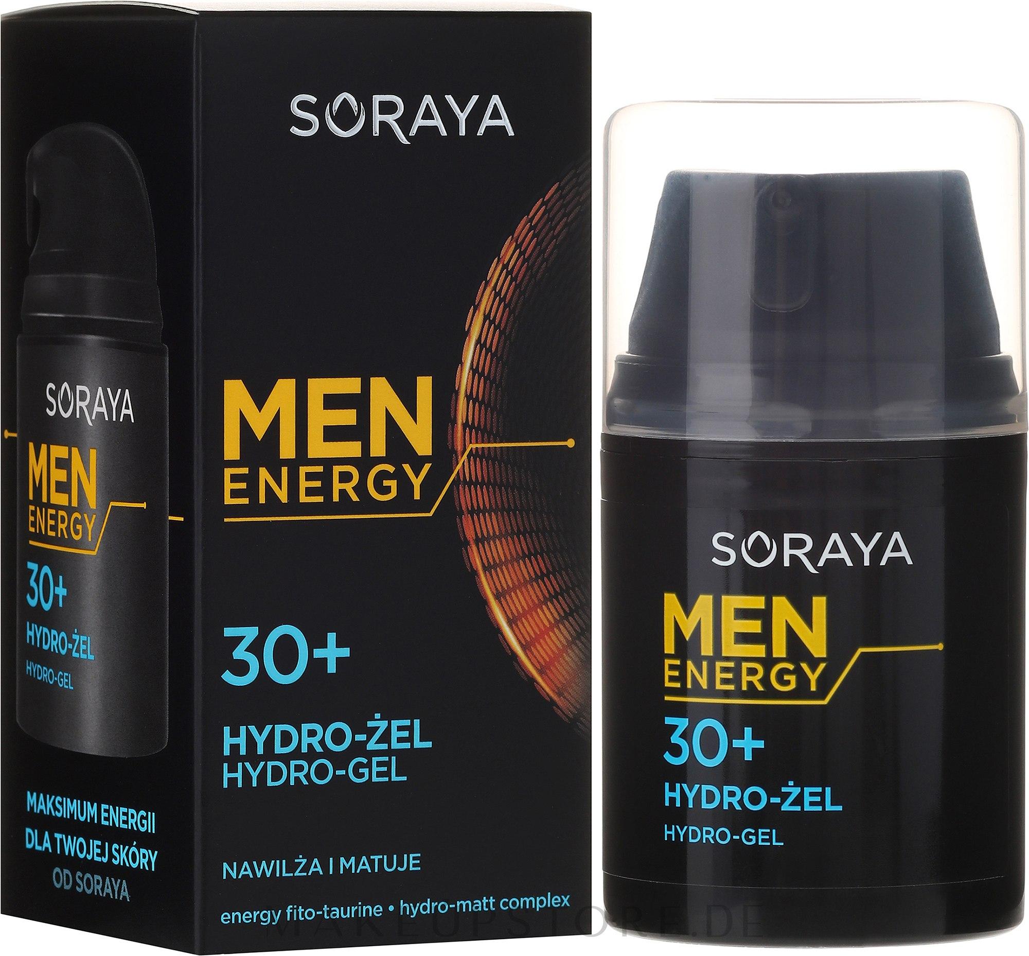 Feuchtigkeitsspendendes und mattierendes Gesichtsgel 30+ - Soraya Men Energy — Bild 50 ml