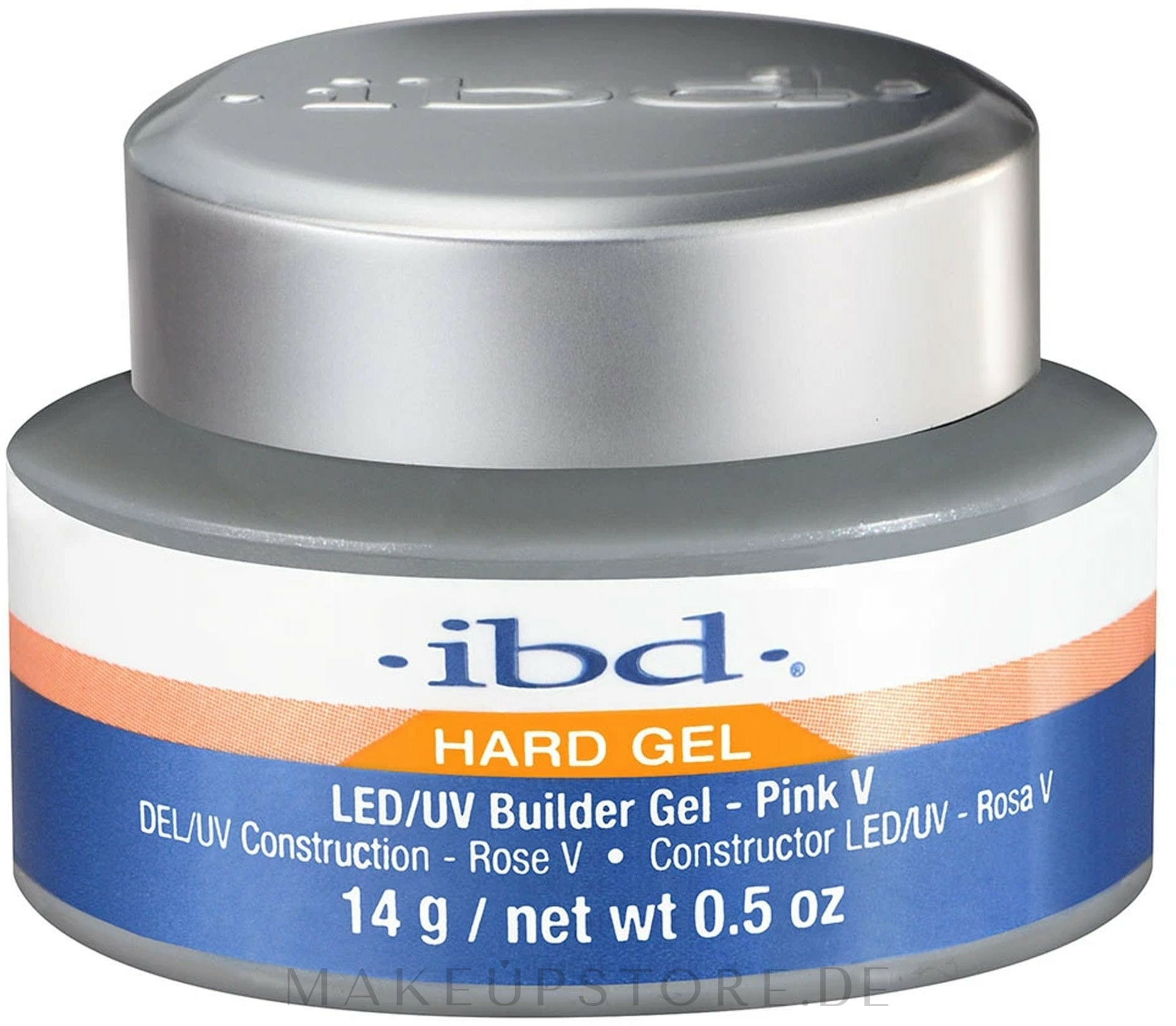 LED/UV Nagelgel transparent - IBD LED/UV Clear Gel — Bild 14 g