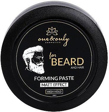 Modellierende Haar- und Bartpaste mit Matt-Effekt Starker Halt - One&Only Cosmetics For Beard&Hair Forming Paste Matt Effect — Bild N1