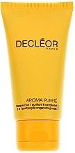 Düfte, Parfümerie und Kosmetik 2in1 Verfeinernde Gesichtsmaske mit Ylang-Ylang-Öl und Extrakt aus weißer Seerose - Decleor Aroma Purete Masque 2 en 1 Purifiant & Oxygenant