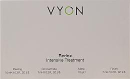 Düfte, Parfümerie und Kosmetik Gesichtspflegeset - Vyon Redox Intensive Tretment (Gesichtspeeling 10ml + Gesichtskonzentrat 7ml + Gesichtsmaske 1.5g + Finish 7ml)