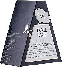 Gesichtsmaske mit Aktivkohle, Lakritzextrakt und Akazie - Doll Face Little Black Mask Super Purifying & Clearing Mask — Bild N1
