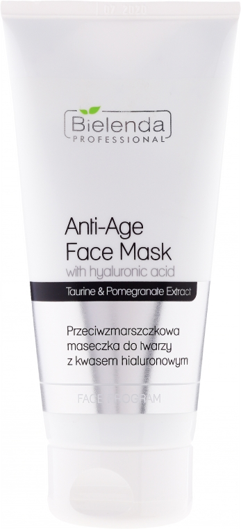 Anti-Falten Gesichtsmaske mit Hyaluronsäure - Bielenda Professional Face Program Anti-Age Face Mask With Hyaluronic Acid