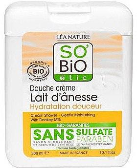 Feuchtigkeitsspendende Duschcreme mit Eselsmilch - So'Bio Etic Cream Shower — Bild N1