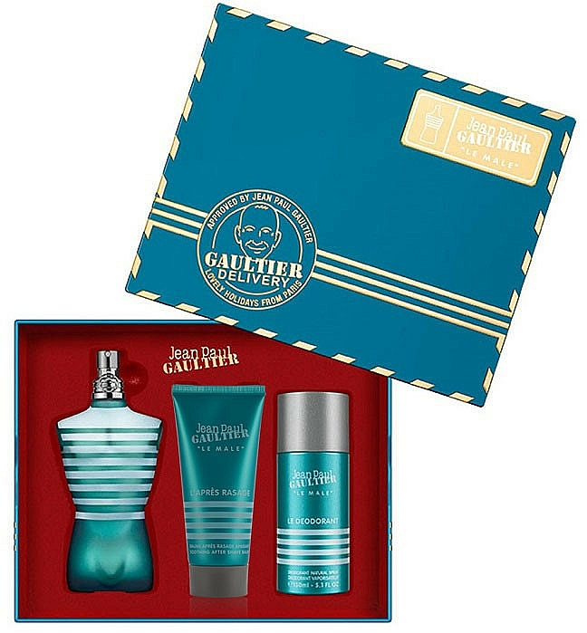 Jean Paul Gaultier Le Male - Duftset (Eau de Toilette 125ml + After Shave Balsam 50ml + Deostick 75ml)
