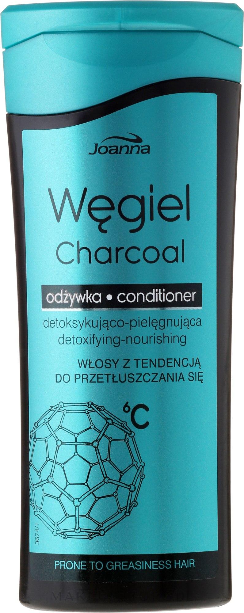 2in1 Shampoo und Haarspülung für fettiges Haar - Joanna Charcoal Micellar Conditioner — Bild 200 g