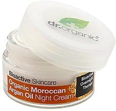 Düfte, Parfümerie und Kosmetik Pflegende Nachtcreme mit marokkanischem Arganöl - Dr. Organic Bioactive Skincare Organic Moroccan Argan Oil Night Cream