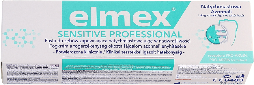 Medizinische Zahnpasta für sofortige und anhaltende Schmerzlinderung bei schmerzempfindlichen Zähnen - Elmex Professional Sensitive Toothpaste — Bild N1