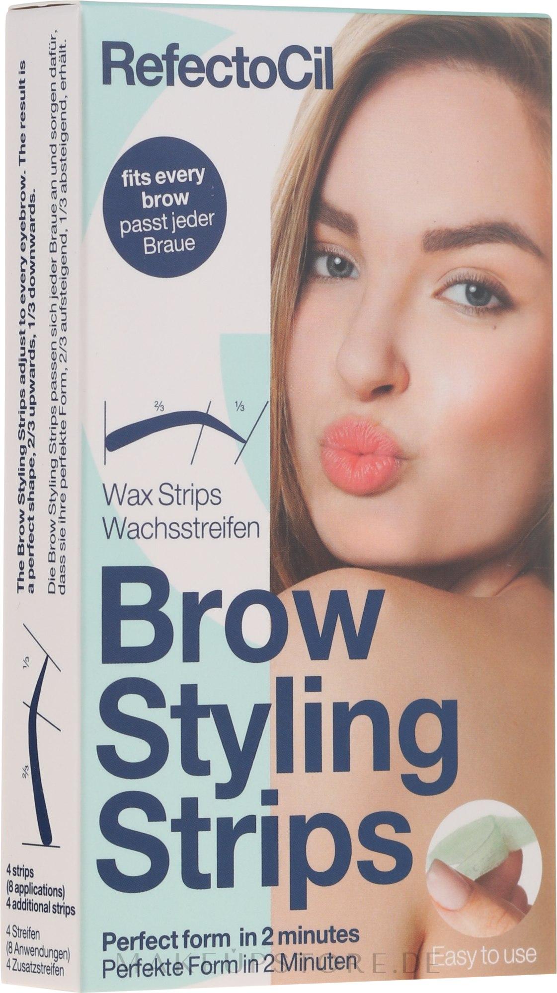Augenbrauen Kaltwachssteifen - RefectoCil Brow Styling Wax Strips — Bild 30 St..