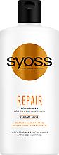 Düfte, Parfümerie und Kosmetik Regenerierende Haarspülung für trockenes und stapaziertes Haar - Syoss Repair Conditioner