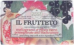 Düfte, Parfümerie und Kosmetik Naturseife Pomegranante & Blackcurrant - Nesti Dante Nourishing & Toning Soap Il Frutteto Collection