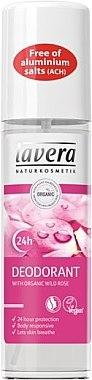 Deospray mit Bio Wildrose ohne Aluminiumsalze - Lavera 24H Deodorant With Wild Rose — Bild N1