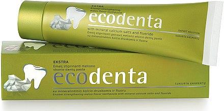 Zahnschmelz stärkende Zahnpasta mit Melonengeschmack - Ecodenta Extra Enamel Strengthening Melon Flavor Toothpaste — Bild N1