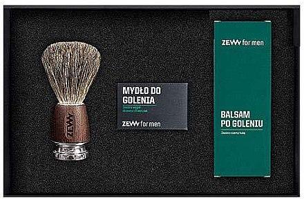 Rasierset - Zew For Men Shaving Kit (Seife 85ml + After Shave Balsam 80ml + Rasierbürste 1St.) — Bild N2