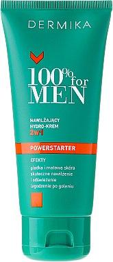 Feuchtigkeitsspendende Gesichtscreme - Dermika 100% For Men Powerstarter Moisturising Hydrocream 2 in 1 — Bild N2