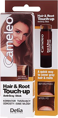 Sofort Ansatz-kaschierender Concealer - Delia Cameleo Hair & Root Touch-Up Korektor — Bild N1